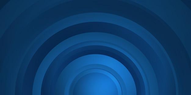 Fundo abstrato dinâmico azul escuro brilhante com linhas do círculo. capa 3d do banner de apresentação de negócios para festa noturna de evento de venda