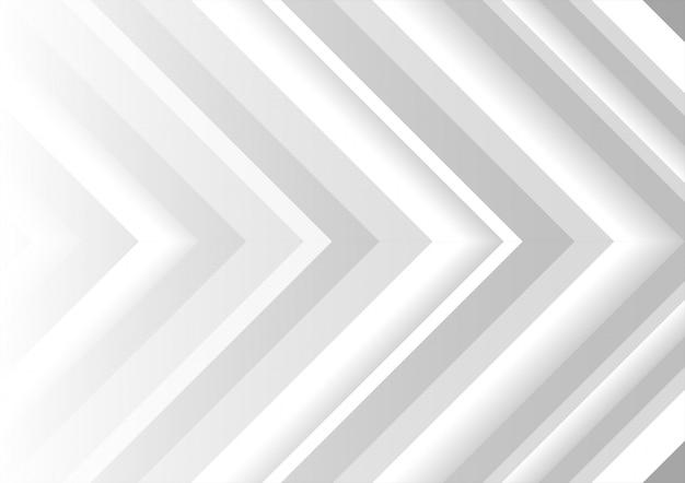 Fundo abstrato dinâmico de setas brancas e cinza