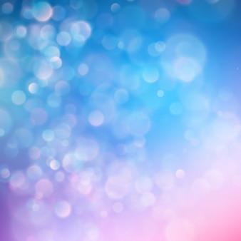 Fundo abstrato do céu azul com efeito da luz do bokeh do borrão.