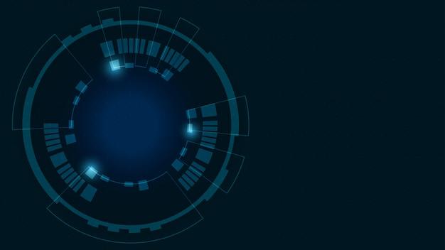 Fundo abstrato do ciclo de tecnologia digital.