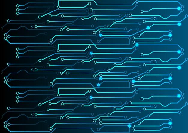 Fundo abstrato do circuito da luz azul