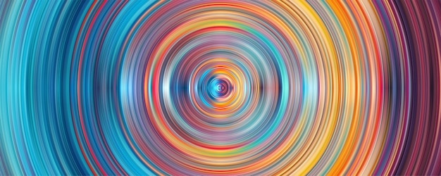 Fundo abstrato do círculo com listras geométricas