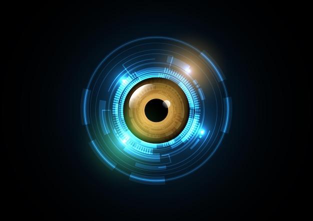 Fundo abstrato do círculo da segurança do olho do futuro da tecnologia