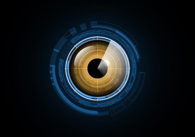 Fundo abstrato do círculo de segurança do radar do futuro da tecnologia