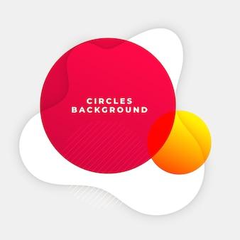 Fundo abstrato do círculo vermelho com forma de curva de papel