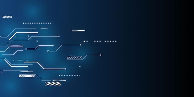 Fundo abstrato do conceito de comunicação de tecnologia azul