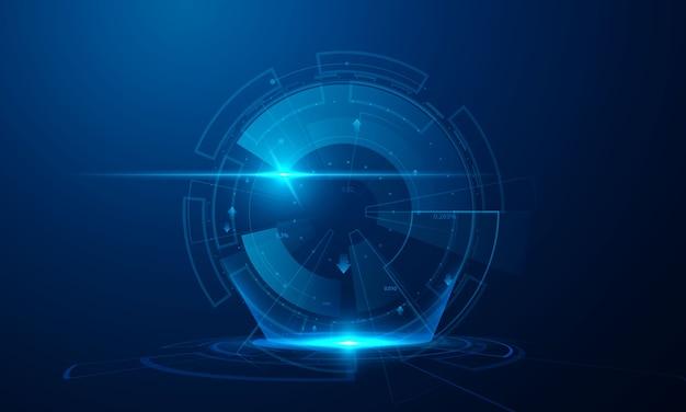 Fundo abstrato do conceito de comunicação de tecnologia