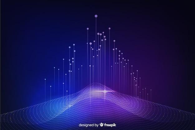 Fundo abstrato do conceito de grande volume de dados