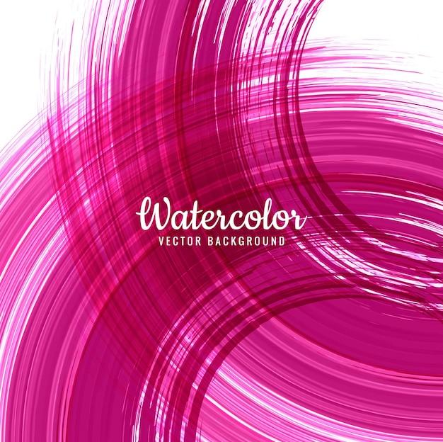 Fundo abstrato do curso de aquarela rosa