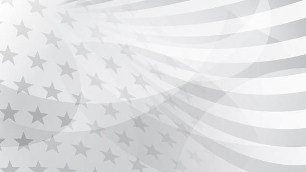 Fundo abstrato do dia da independência com elementos da bandeira americana em cores cinza. Vetor Premium