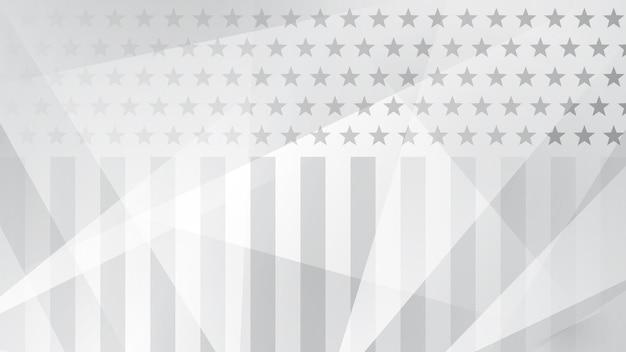 Fundo abstrato do dia da independência com elementos da bandeira americana em cores cinza.