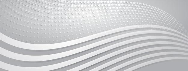 Fundo abstrato do dia da independência dos eua com elementos da bandeira americana em cores cinza.