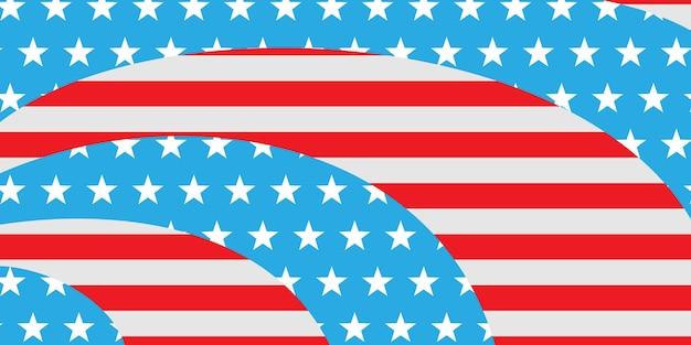 Fundo abstrato do dia da independência dos eua com elementos da bandeira americana nas cores vermelha e azul.