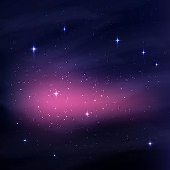 Fundo abstrato do espaço com estrelas