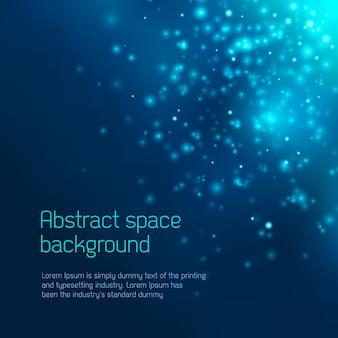 Fundo abstrato do espaço