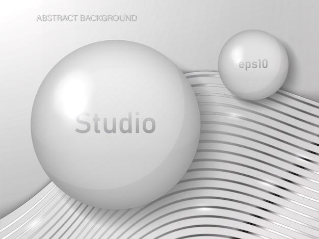 Fundo abstrato do estúdio da cor branca.