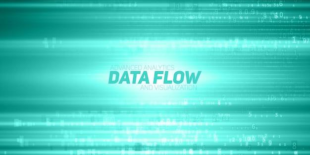 Fundo abstrato do fluxo de dados