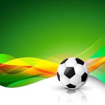 Fundo abstrato do futebol