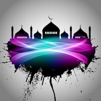 Fundo abstrato do grunge para o eid mubarak
