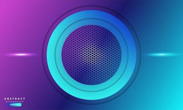 Fundo abstrato do hexágono de luz roxa