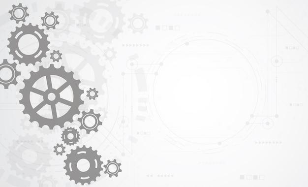 Fundo abstrato do mecanismo da roda de engrenagem.