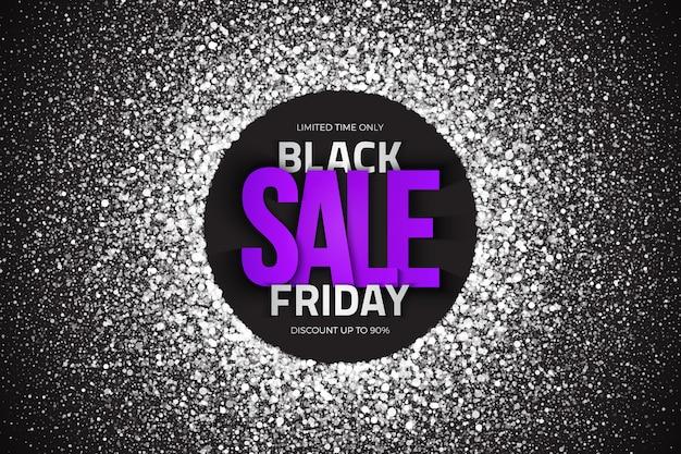 Fundo abstrato do modelo de texto tipográfico de venda de sexta-feira negra