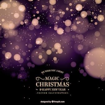 Fundo abstrato do Natal com efeito do bokeh
