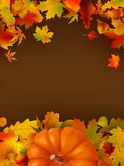 Fundo abstrato do outono com folhas.