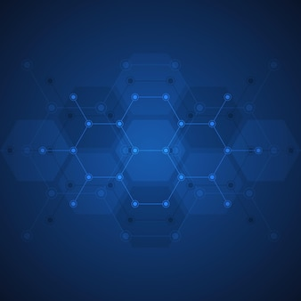 Fundo abstrato do padrão de forma de hexágonos