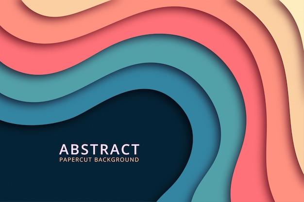 Fundo abstrato do papercut. design de textura em cores suaves