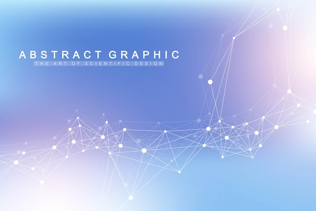 Fundo abstrato do plexo com linhas e pontos conectados. fundo da molécula e comunicação. plano de fundo gráfico para seu projeto. visualização de big data de plexo de linhas. ilustração vetorial.
