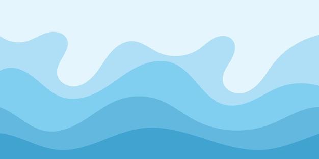 Fundo abstrato do projeto da ilustração do vetor da onda de água