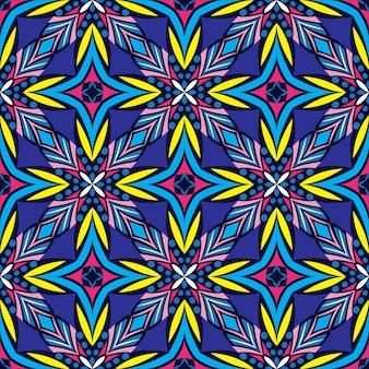 Fundo abstrato do projeto da mandala decorativa. padrão sem emenda