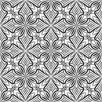 Fundo abstrato do projeto da mandala decorativa. padrão uniforme
