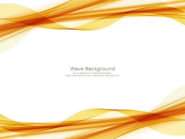Fundo abstrato do projeto da onda amarela Vetor grátis