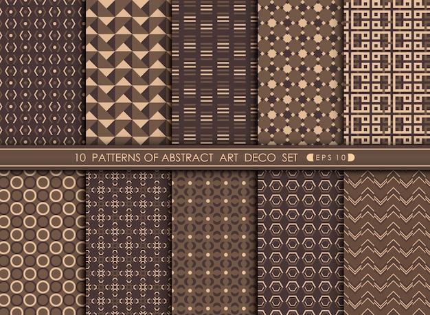 Fundo abstrato do projeto geométrico do teste padrão do art deco.