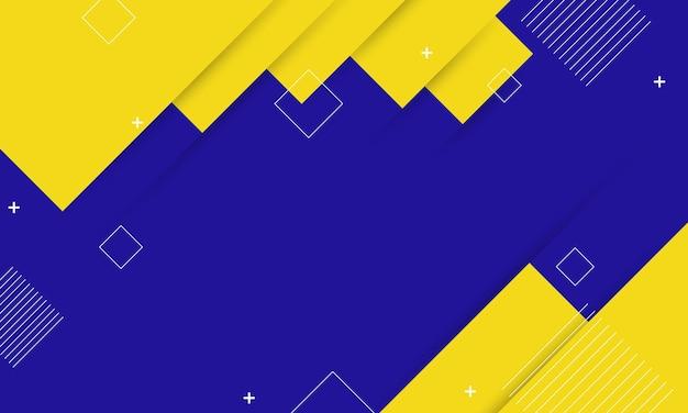 Fundo abstrato do retângulo geométrico azul e amarelo. novo modelo para o seu brand book.