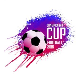 Fundo abstrato do splatter da tinta do futebol