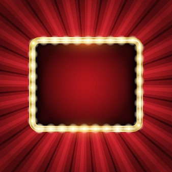 Fundo abstrato do starburst com quadro de néon de incandescência