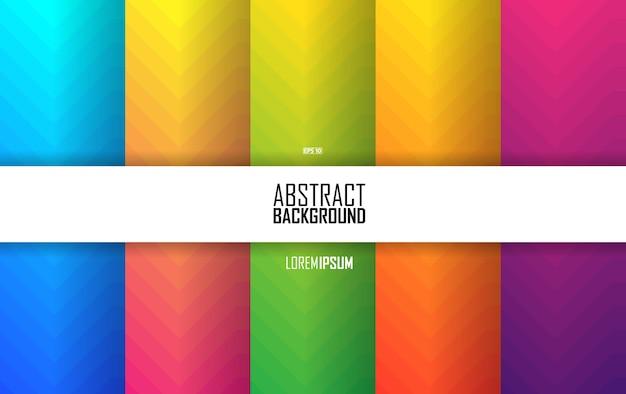 Fundo abstrato do teste padrão. conjunto de formas abstratas de cor, fundo de desenho abstrato. elementos abstratos de gradiente