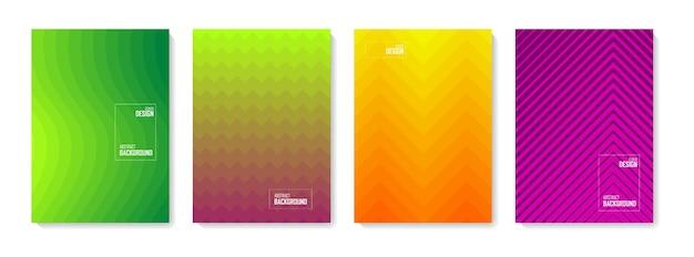 Fundo abstrato do teste padrão. conjunto de formas abstratas de cor, fundo de desenho abstrato. elementos gradientes abstratos para logotipo, banner, postagem,
