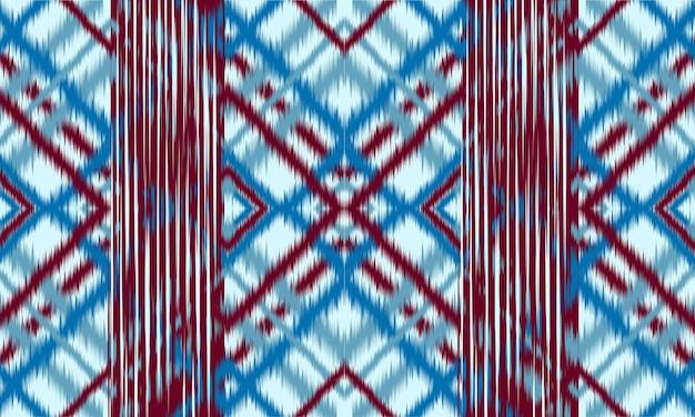 Fundo abstrato do teste padrão da chevron étnica do ikat. , tapete, papel de parede, roupas, embrulho, batik, tecido, estilo de illustration.embroidery do vetor. Vetor Premium