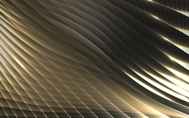Fundo abstrato do teste padrão das ondas da listra geométrica do ouro. ilustração vetorial