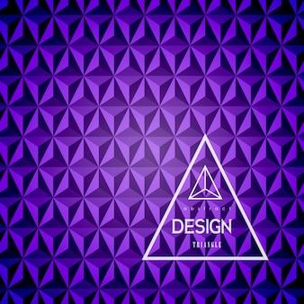 Fundo abstrato do triângulo 3d.