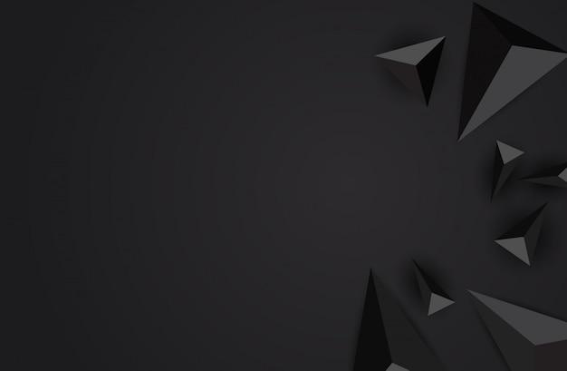Fundo abstrato do triângulo.