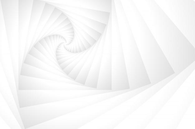 Fundo abstrato do túnel branco pilha espiral