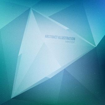 Fundo abstrato do vetor 3d azul