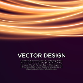 Fundo abstrato do vetor com curvas brilhantes
