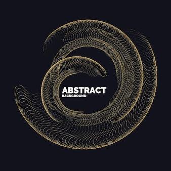 Fundo abstrato do vetor com linhas coloridas dinâmicas e partículas. ilustração adequada para design. glitter dourado