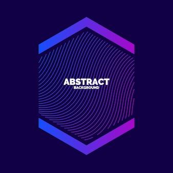 Fundo abstrato do vetor com ondas dinâmicas. ilustração adequada para design